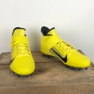 NEW NIKE highlighter yellow high top Alpha cleats